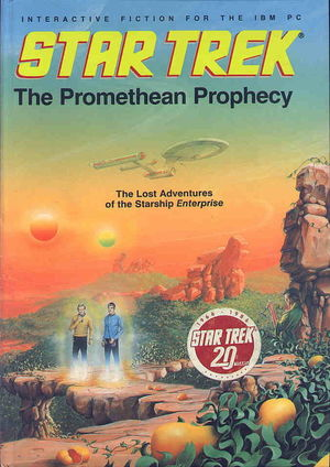 Cover for Star Trek: The Promethean Prophecy.
