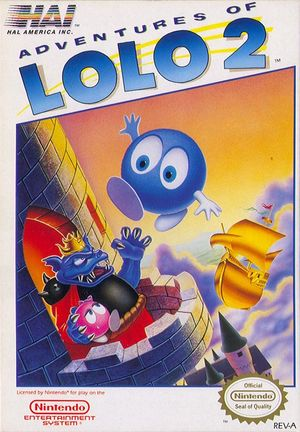 Cover for Adventures of Lolo 2.