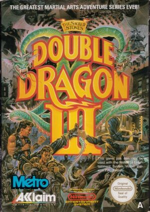 Cover for Double Dragon III: The Sacred Stones.