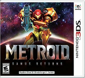 Cover for Metroid: Samus Returns.