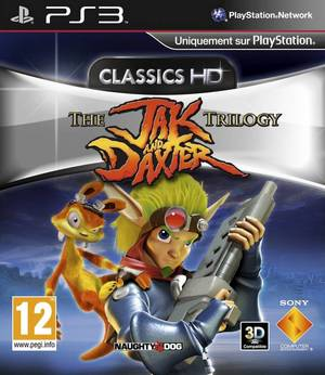 Cover for The Jak and Daxter Trilogy HD Collection.