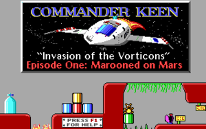 Cover for Commander Keen Episode One: Marooned on Mars.