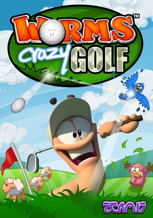 Cover for Worms Crazy Golf.