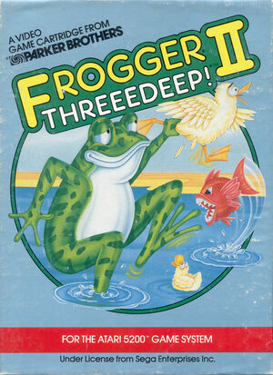Cover for Frogger II: ThreeeDeep!.