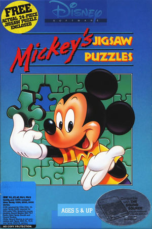Cover for Mickey's Jigsaw Puzzles.