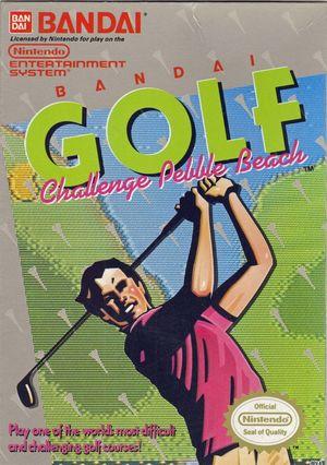 Cover for Bandai Golf: Challenge Pebble Beach.