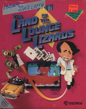 Cover for Leisure Suit Larry in the Land of the Lounge Lizards.