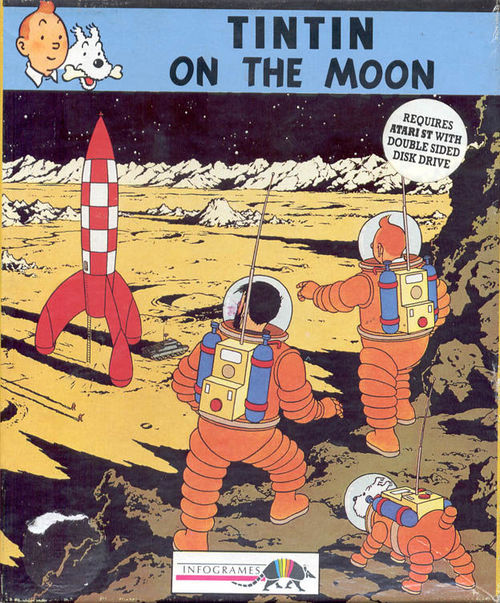 Cover for Tintin on the Moon.