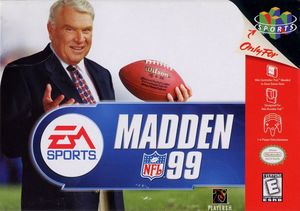 Cover for Madden NFL 99.