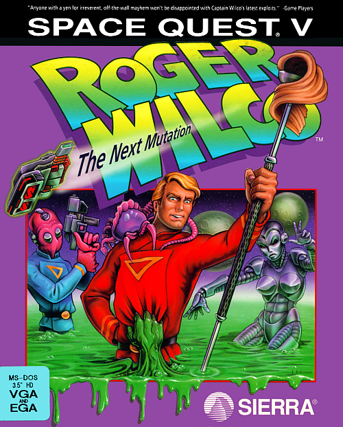 Cover for Space Quest V: Roger Wilco – The Next Mutation.