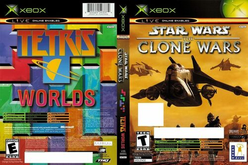 Cover for Star Wars: The Clone Wars / Tetris Worlds.
