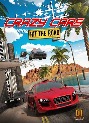 Cover for Crazy Cars: Hit the Road.