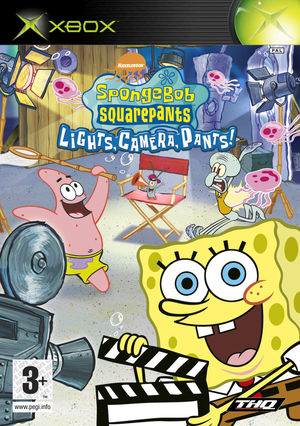 Cover for SpongeBob SquarePants: Lights, Camera, Pants!.