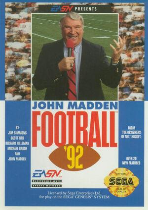 Cover for John Madden Football '92.