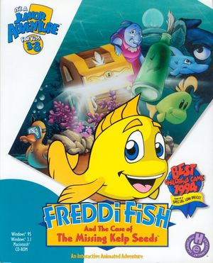 Cover for Freddi Fish and the Case of the Missing Kelp Seeds.