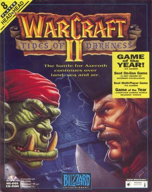 Cover for Warcraft II: Tides of Darkness.