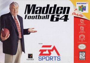 Cover for Madden Football 64.