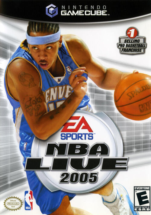 Cover for NBA Live 2005.