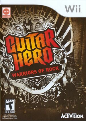 Cover for Guitar Hero: Warriors of Rock.