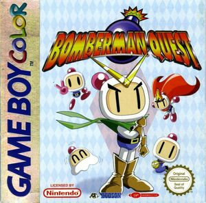 Cover for Bomberman Quest.