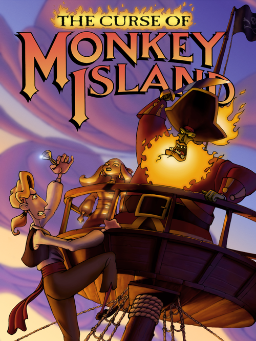 Cover for The Curse of Monkey Island.