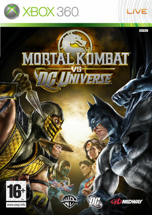 Cover for Mortal Kombat vs. DC Universe.