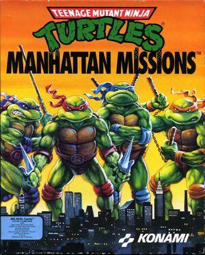 Cover for Teenage Mutant Ninja Turtles: Manhattan Missions.