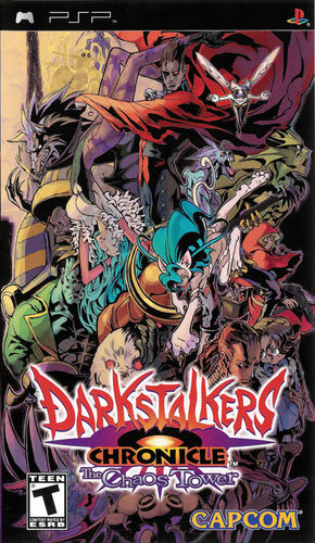 Cover for Darkstalkers Chronicle: The Chaos Tower.