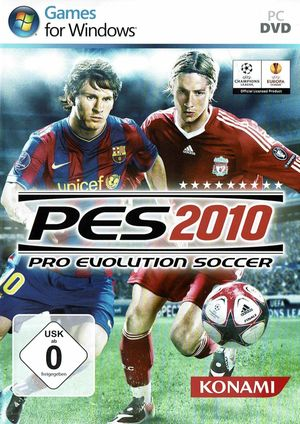 Cover for Pro Evolution Soccer 2010.
