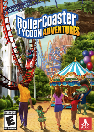 Cover for RollerCoaster Tycoon Adventures.