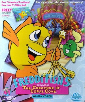Cover for Freddi Fish 5: The Case of the Creature of Coral Cove.