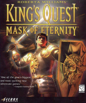 Cover for King's Quest: Mask of Eternity.