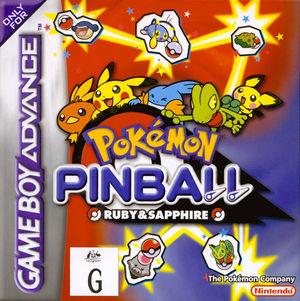 Cover for Pokémon Pinball: Ruby & Sapphire.