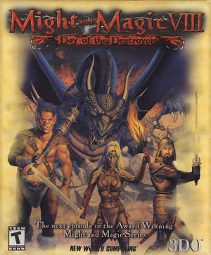 Cover for Might and Magic VIII: Day of the Destroyer.