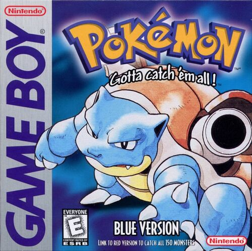 Cover for Pokémon Blue.