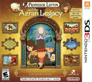 Cover for Professor Layton and the Azran Legacy.