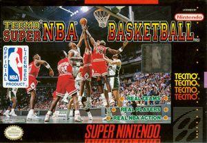 Cover for Tecmo Super NBA Basketball.