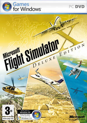 Cover for Microsoft Flight Simulator X.