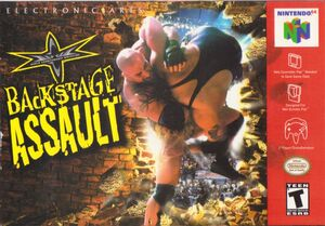 Cover for WCW Backstage Assault.