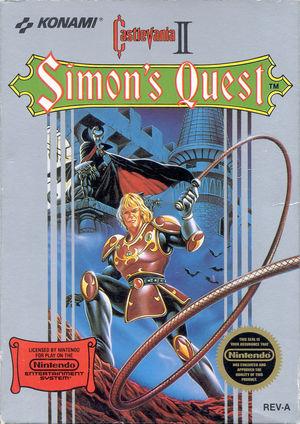 Cover for Castlevania II: Simon's Quest.