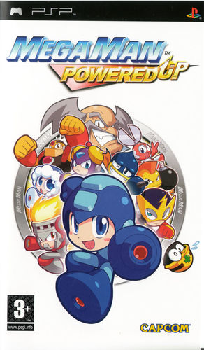 Cover for Mega Man Powered Up.