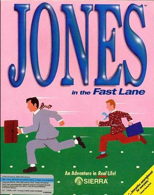 Cover for Jones in the Fast Lane.