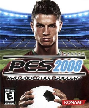 Cover for Pro Evolution Soccer 2008.
