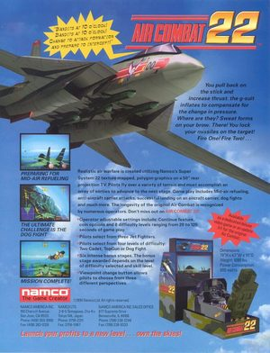 Cover for Air Combat 22.