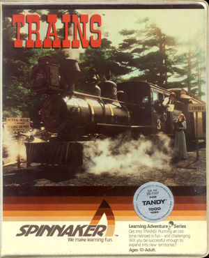 Cover for Trains.