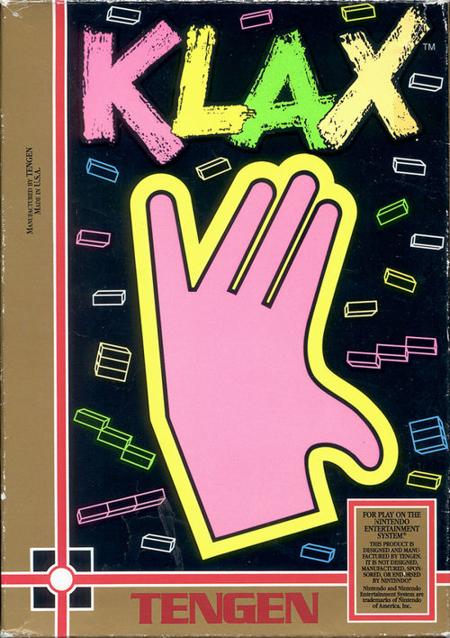 Cover for Klax.