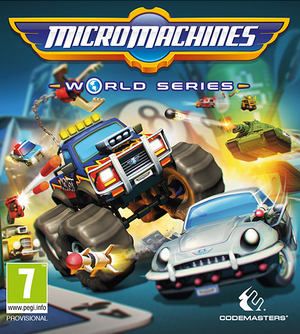 Cover for Micro Machines World Series.