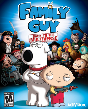 Cover for Family Guy: Back to the Multiverse.