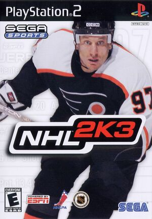 Cover for NHL 2K3.