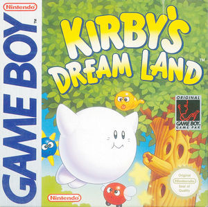 Cover for Kirby's Dream Land.